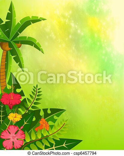 Background with tropical plants - csp6457794