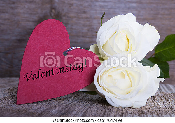 Background with Valentines Day Label - csp17647499