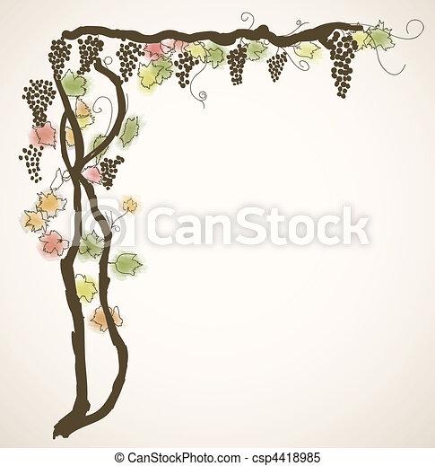 background with vine - csp4418985