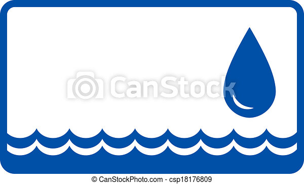 background with water drop and wave - csp18176809