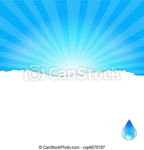 Background With Water Drop - csp6670197