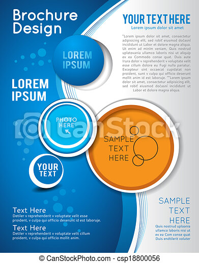 Background with wave - brochure design or flyer - csp18800056