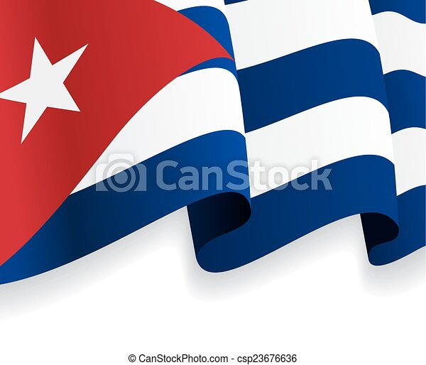Captivating Background With Waving Cuban Flag. Vector
