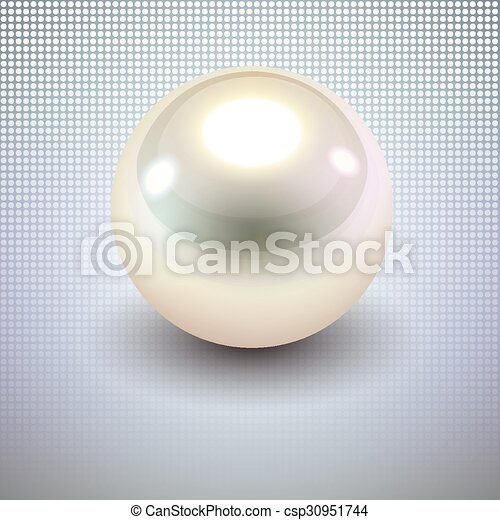 Background with white pearl - csp30951744