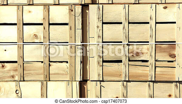 background with wooden boxes - csp17407073