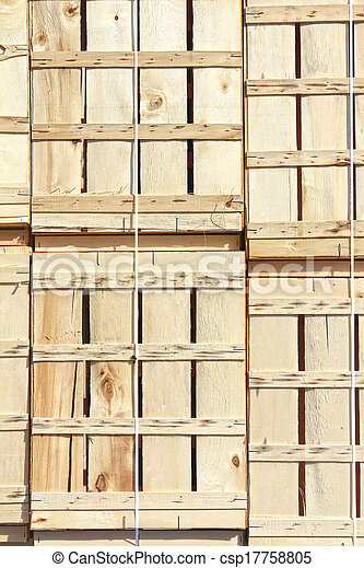 background with wooden boxes - csp17758805