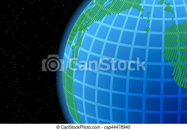 Dark background with world map and globe illustration clip eps background with world map and globe csp44478940 gumiabroncs Gallery