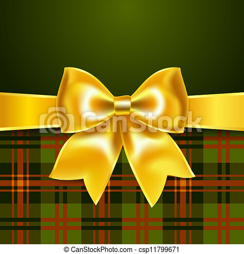 Background with yellow ribbon bow - csp11799671
