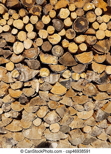 Background wood logs for fireplace - csp46938591