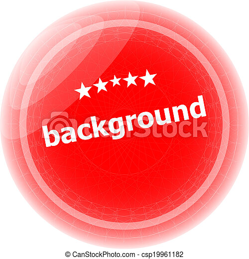 background word on red stickers button, label - csp19961182
