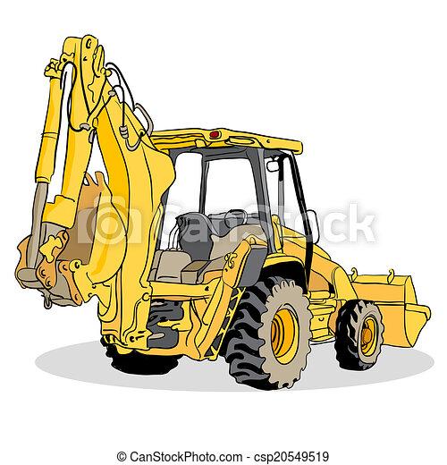 backhoe loader vehicle an image of a backhoe loader vehicle