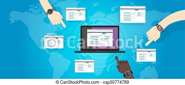 backlink refferal link building website seo search engine optimization - csp30774789