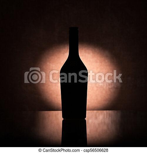 Backlit liquor bottle - csp56506628