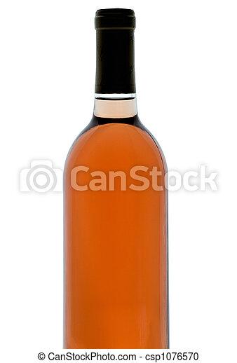 Backlit wine bottle - csp1076570