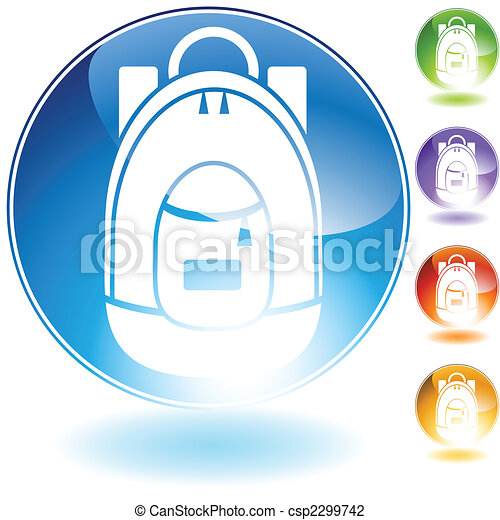 backpack icon crystal - csp2299742