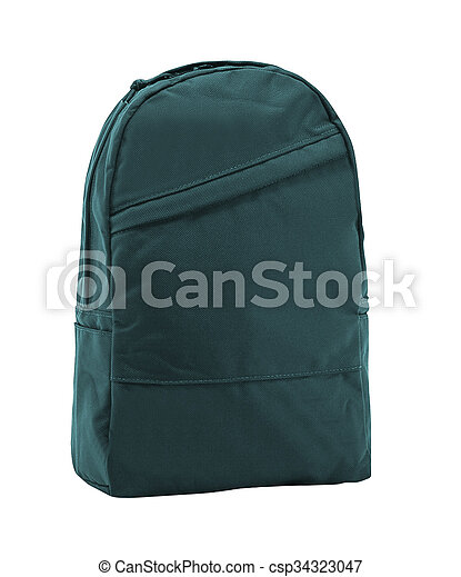 backpack isolated on a white background - csp34323047