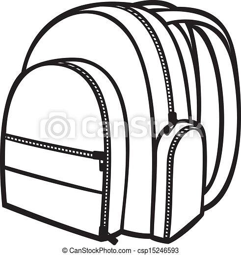 (backpack, tasche, schule, bag), satz - csp15246593