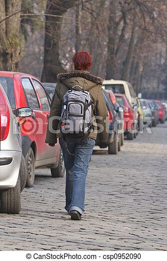 Backpacker girl - csp0952090