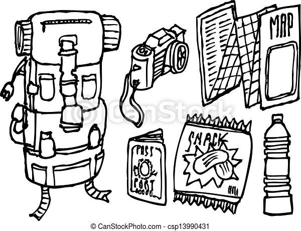 Backpacker survival set - csp13990431