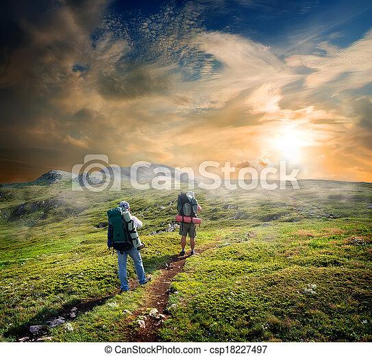 backpackers, bergen - csp18227497