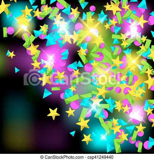 backround with colourful sparlking confetti bright abstract holiday