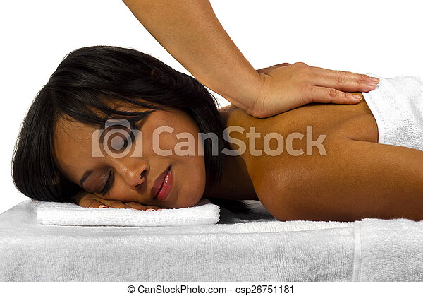 Black man getting a massage