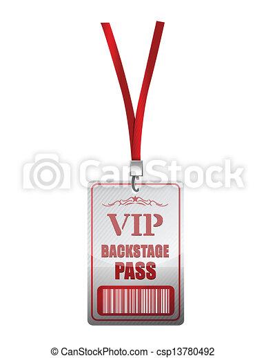 Backstage pass vip illustration design - csp13780492