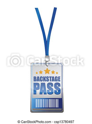 Backstage pass vip illustration design - csp13780497