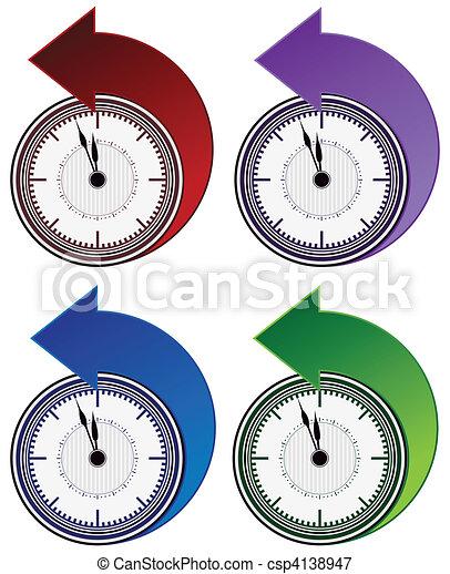Backwards Clock Arrow Set - csp4138947