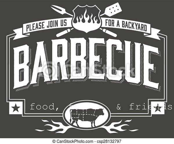 Backyard Barbecue Invitation - csp28132797