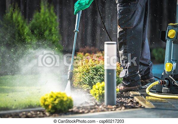 Backyard Garden Cleaning - csp60217203