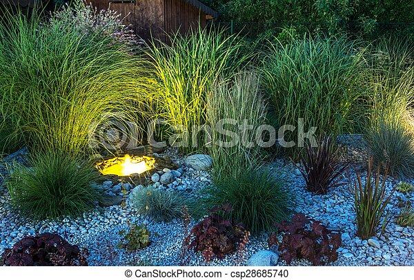 Backyard Garden illumination - csp28685740