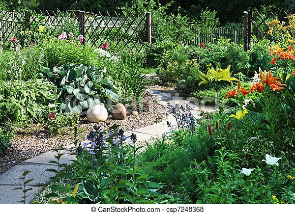 Backyard Garden - csp7248368