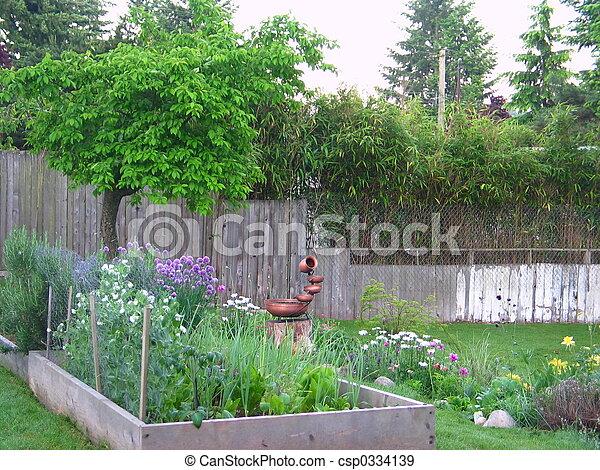 Backyard Garden - csp0334139
