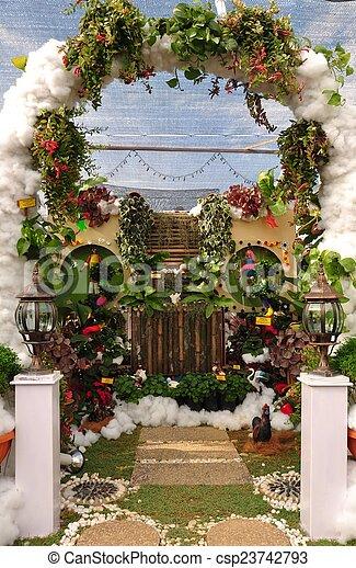 backyard garden - csp23742793