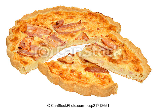 Bacon And Cheese Quiche - csp21712651