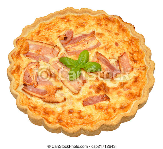 Bacon And Cheese Quiche - csp21712643