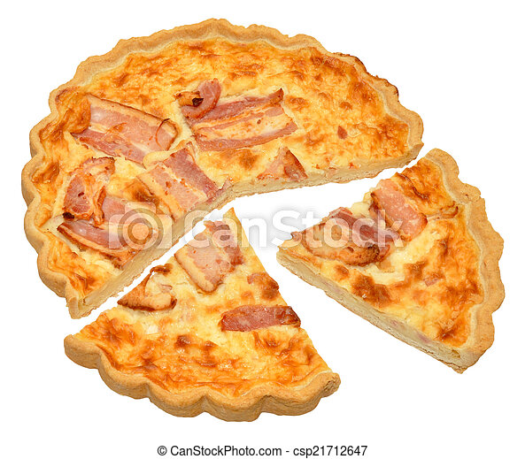 Bacon And Cheese Quiche - csp21712647