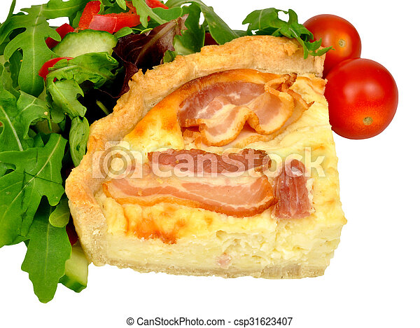 Bacon and cheese savoury Tart - csp31623407