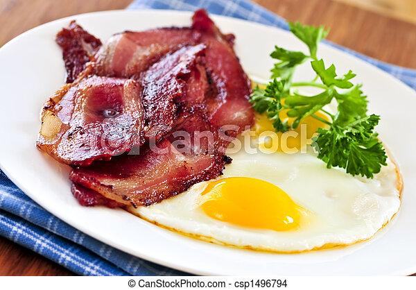 Bacon and eggs - csp1496794
