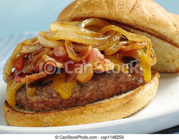 Bacon BBQ Cheeseburger - csp1148259