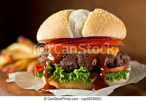 Bacon Cheeseburger - csp32536021