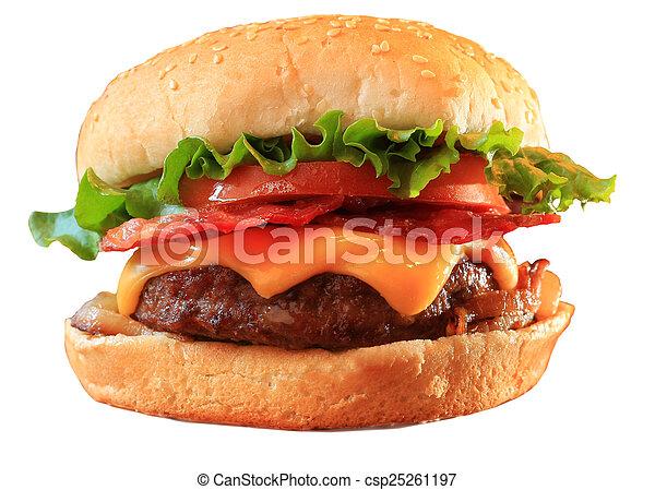 Bacon cheeseburger - csp25261197