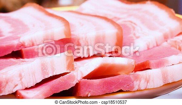 bacon plate - csp18510537
