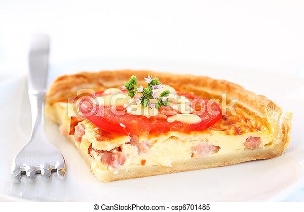 Bacon quiche - csp6701485