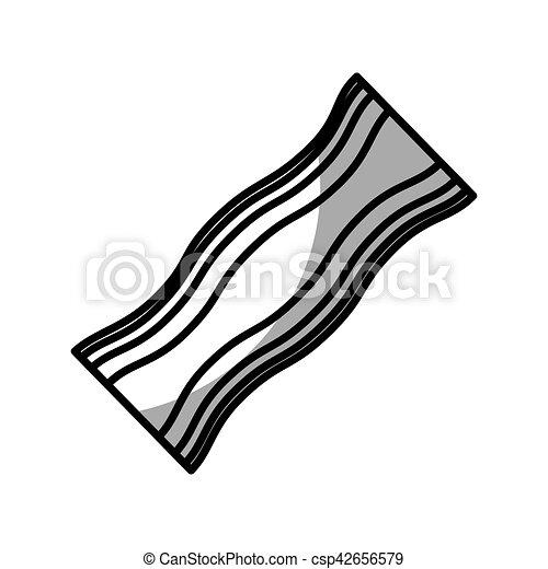Bacon Slice Vector Clipart Illustrations 3854 Bacon Slice Clip Art