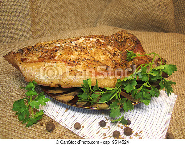 bacon with parsley - csp19514524