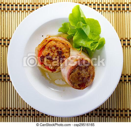 Bacon-wrapped pork - csp29516165
