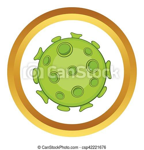 Bacteria or virus vector icon - csp42221676