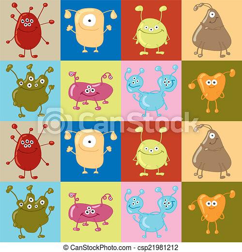 Bacteria. Seamless vector pattern. Medicine background - csp21981212